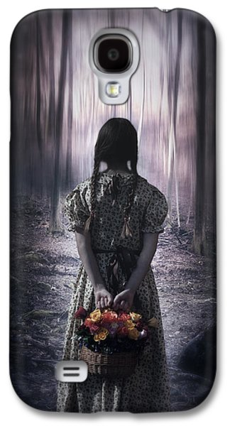 Creepy Galaxy S4 Cases - Girl In The Woods Galaxy S4 Case by Joana Kruse