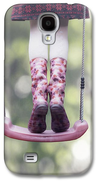 Girl Galaxy S4 Cases - Girl Swinging Galaxy S4 Case by Joana Kruse
