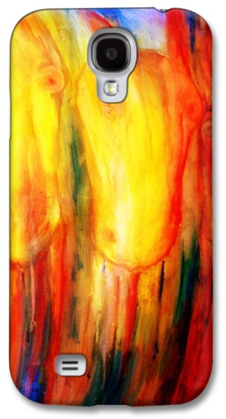 Planetary System Paintings Galaxy S4 Cases - Give us hay Galaxy S4 Case by Hilde Widerberg