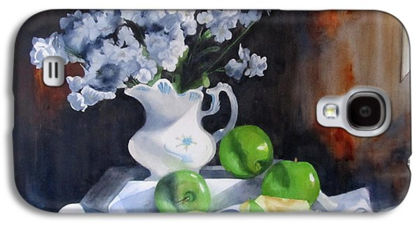 Old Pitcher Paintings Galaxy S4 Cases - Glendas Still life Galaxy S4 Case by Denny Dowdy