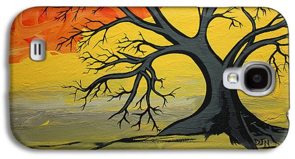 Slash Paintings Galaxy S4 Cases - Global Warming  Galaxy S4 Case by Dennis Nadeau