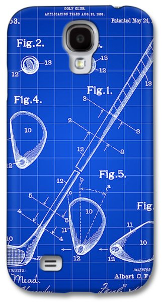 Golf Club Patent 1909 - Blue Galaxy S4 Case by Stephen Younts