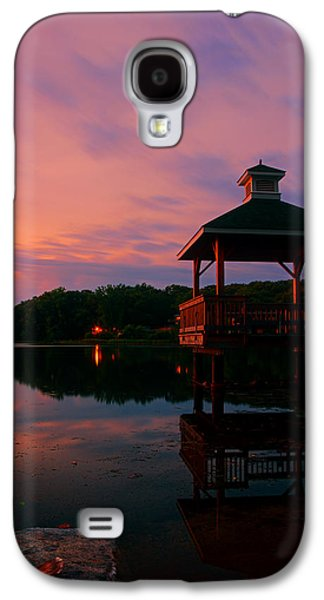 Warwick Galaxy S4 Cases - Gorton Pond Sunset Warwick Rhode Island Galaxy S4 Case by Lourry Legarde