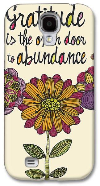 Illustration Photographs Galaxy S4 Cases - Gratitude is the open door to abundance Galaxy S4 Case by Valentina Ramos