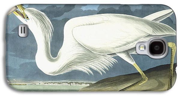 Heron Paintings Galaxy S4 Cases - Great White Heron Galaxy S4 Case by John James Audubon