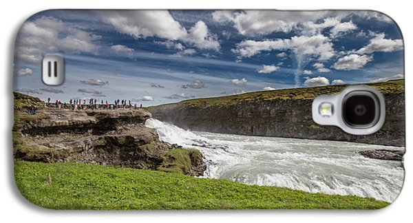 Landscapes Photographs Galaxy S4 Cases - Gullfoss Waterfalls, Iceland Gullfoss Galaxy S4 Case by Panoramic Images