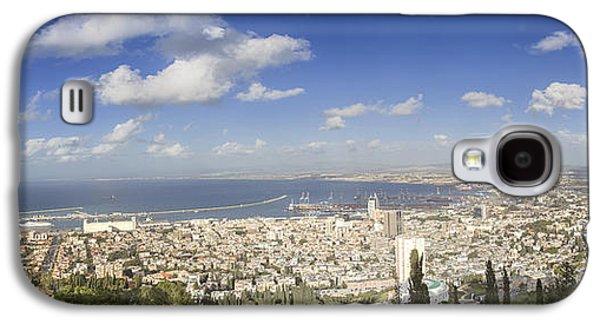 Waterscape Galaxy S4 Cases - Haifa Bay panorama Galaxy S4 Case by Nir Ben-Yosef