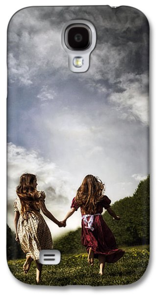 Girl Galaxy S4 Cases - Hand In Hand Through Life Galaxy S4 Case by Joana Kruse