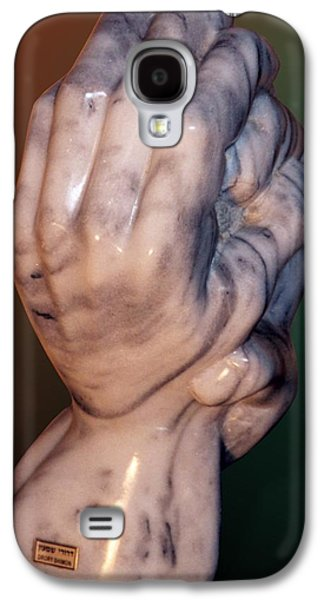 Surrealism Sculptures Galaxy S4 Cases - Hands of a sculptor Galaxy S4 Case by Shimon Drory