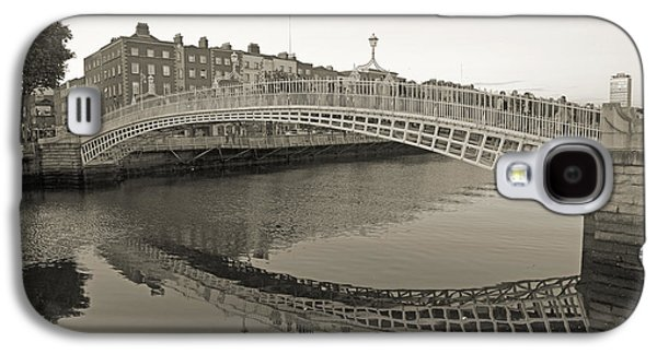 Glass Reflecting Galaxy S4 Cases - HaPenny Bridge Dublin Ireland Galaxy S4 Case by Betsy A  Cutler