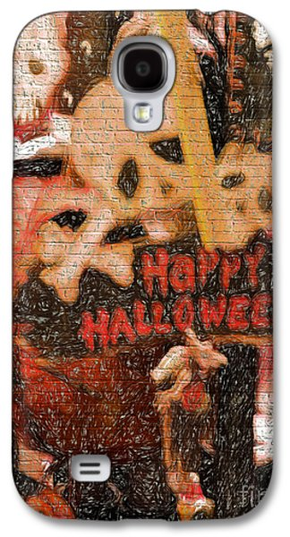 Jacko Galaxy S4 Cases - Happy Halloween Galaxy S4 Case by Gillian Singleton