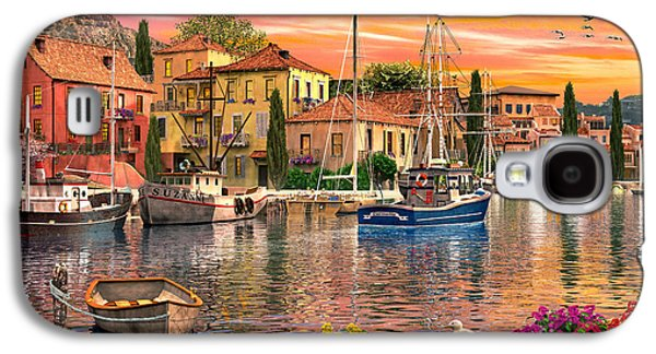 Lake House Galaxy S4 Cases - Harbour Sunset Galaxy S4 Case by Dominic Davison