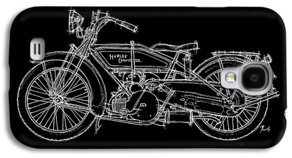 Transportation Pastels Galaxy S4 Cases - Harley Davidson WJ Sport 1921 Galaxy S4 Case by Pablo Franchi