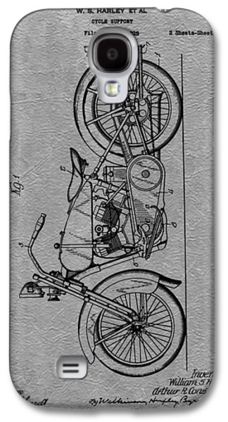 Mechanics Mixed Media Galaxy S4 Cases - Harley Patent Galaxy S4 Case by Dan Sproul