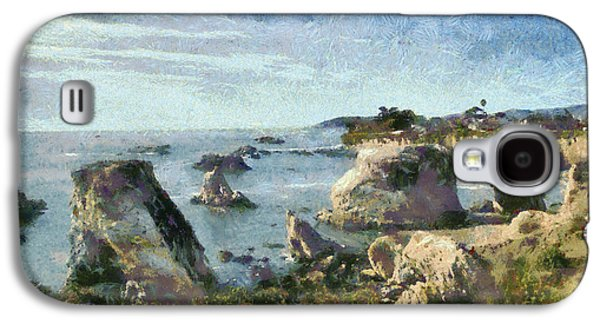 Nature Scene Digital Art Galaxy S4 Cases - Hazy Lazy Day Pismo Beach California Galaxy S4 Case by Barbara Snyder