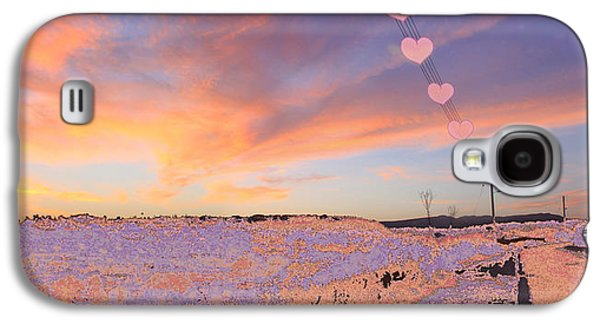 Amazing Sunset Galaxy S4 Cases - Hearts Sunset Galaxy S4 Case by Augusta Stylianou