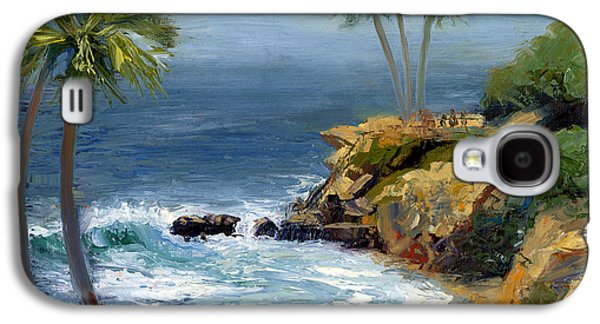 Park Scene Paintings Galaxy S4 Cases - Heisler Park Galaxy S4 Case by Alice Leggett
