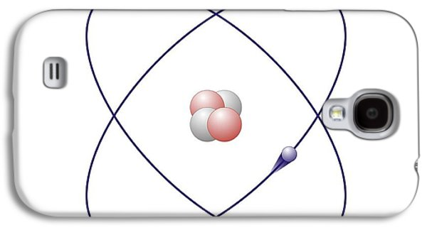Helium Galaxy S4 Cases - Helium, Atomic Model Galaxy S4 Case by Friedrich Saurer