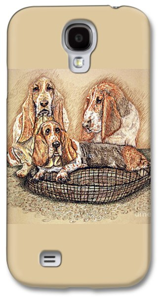 Hess'er Puppies Galaxy S4 Case by Linda Simon