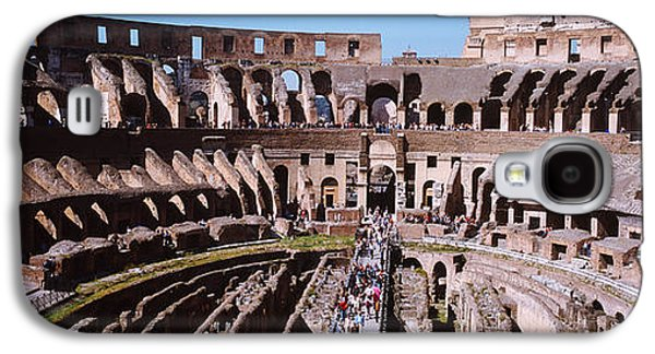 Ancient Civilization Galaxy S4 Cases - High Angle View Of Tourists In An Galaxy S4 Case by Panoramic Images