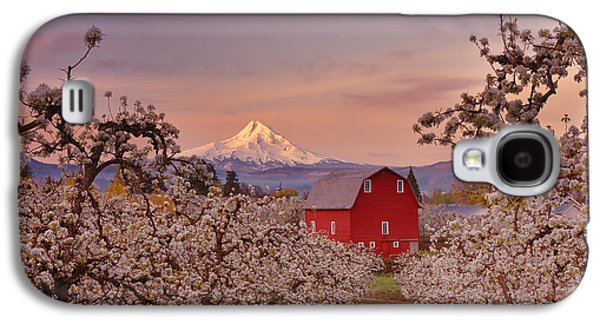 Landscape Framed Prints Galaxy S4 Cases - Hood River Sunrise Galaxy S4 Case by Darren  White
