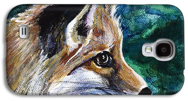 Fox Kit Paintings Galaxy S4 Cases - Hopeful Fox Galaxy S4 Case by Dale Bernard