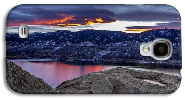 Horsetooth Galaxy S4 Cases - Horsetooth at Sunset Galaxy S4 Case by Bob Younger