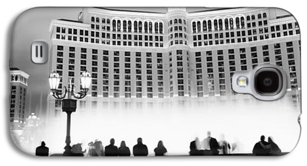 The Strip Galaxy S4 Cases - Hotel Lit Up At Night, Bellagio Resort Galaxy S4 Case by Panoramic Images