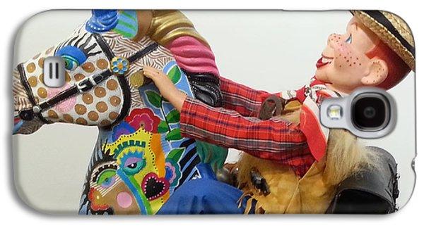 Father Sculptures Galaxy S4 Cases - Howdy Partner Galaxy S4 Case by Keri Joy Colestock