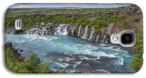 Landscapes Photographs Galaxy S4 Cases - Hraunfossar Waterfall, Borgarfjordur Galaxy S4 Case by Panoramic Images