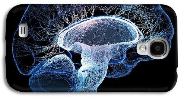 System Galaxy S4 Cases - Human brain Galaxy S4 Case by Johan Swanepoel