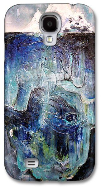 Subconscious Paintings Galaxy S4 Cases - Iceberg Galaxy S4 Case by Tanya Kimberly Orme