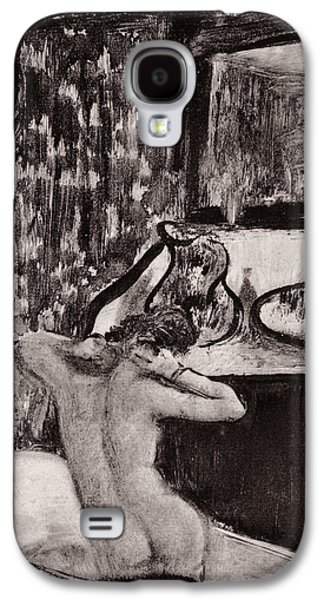 Sex Drawings Galaxy S4 Cases - Illustration from La Maison Tellier by Guy de Maupassant  Galaxy S4 Case by Edgar Degas