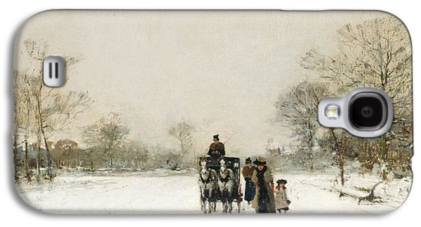 Winter Wonderland Galaxy S4 Cases - In the Snow Galaxy S4 Case by Luigi Loir