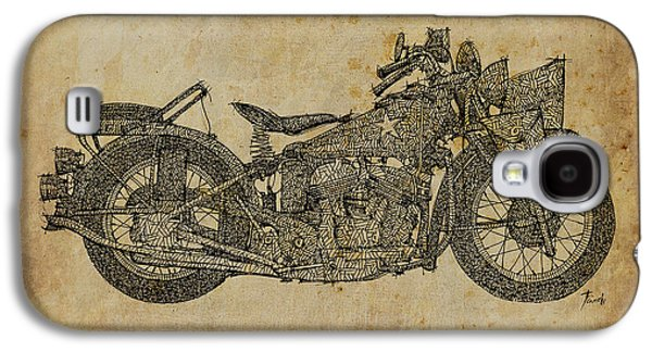 Industrial Drawings Galaxy S4 Cases - Indian 640B 1942 Galaxy S4 Case by Pablo Franchi