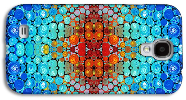 Patterned Mixed Media Galaxy S4 Cases - Inner Light - Abstract Art By Sharon Cummings Galaxy S4 Case by Sharon Cummings