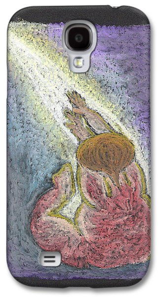 Jesus Pastels Galaxy S4 Cases - Into The Light  Galaxy S4 Case by Lyn Blore Dufty
