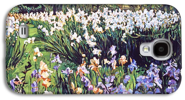 Gardenscapes Galaxy S4 Cases - Irises Provence Galaxy S4 Case by David Lloyd Glover