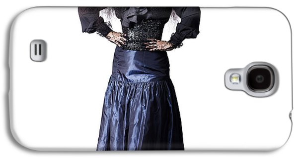 Full Skirt Galaxy S4 Cases - Isolated jester performer on white background Galaxy S4 Case by Ryan Jorgensen
