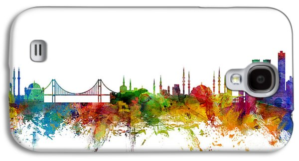 Istanbul Galaxy S4 Cases - Istanbul Turkey Skyline Galaxy S4 Case by Michael Tompsett