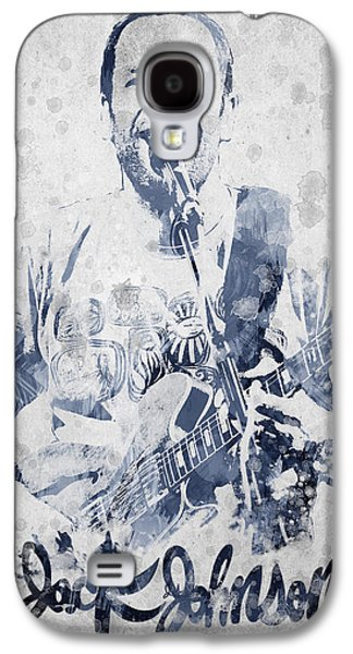 People Mixed Media Galaxy S4 Cases - Jack Johnson Portrait Galaxy S4 Case by Aged Pixel
