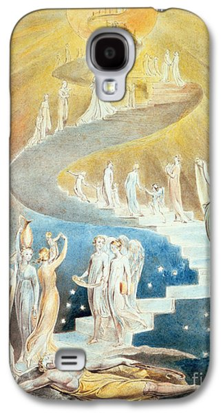 Visionary Paintings Galaxy S4 Cases - Jacobs Ladder Galaxy S4 Case by William Blake