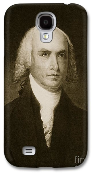 Politics Paintings Galaxy S4 Cases - James Madison Galaxy S4 Case by American School