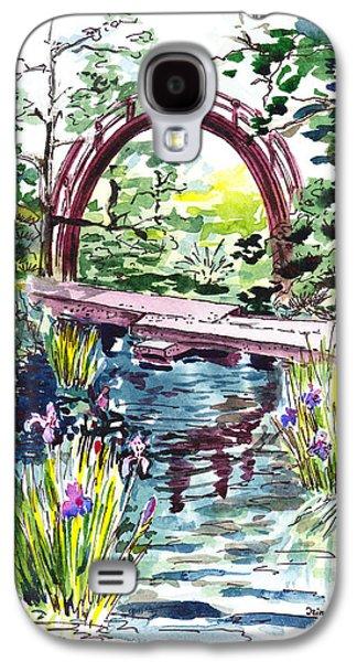 Famous Bridge Galaxy S4 Cases - Japanese Tea Garden San Francisco Galaxy S4 Case by Irina Sztukowski