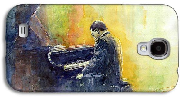 Piano Paintings Galaxy S4 Cases - Jazz Herbie Hancock  Galaxy S4 Case by Yuriy Shevchuk