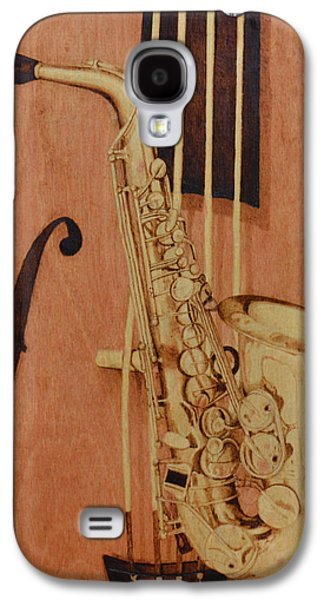 African-american Pyrography Galaxy S4 Cases - Jazz is the Color Galaxy S4 Case by Laurisa Borlovan
