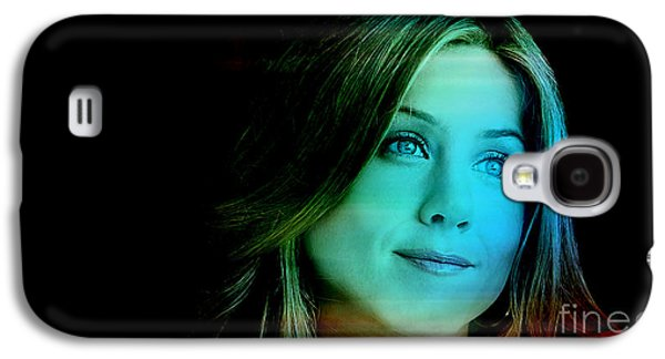 Green Galaxy S4 Cases - Jennifer Aniston Galaxy S4 Case by Marvin Blaine