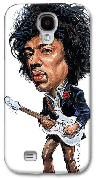Jimi Hendrix Paintings Galaxy S4 Cases - Jimi Hendrix Galaxy S4 Case by Art