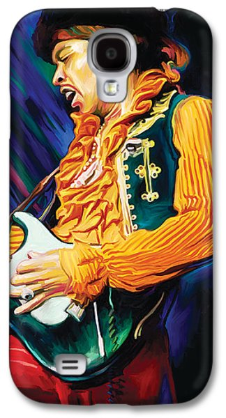 Jimi Hendrix Galaxy S4 Cases - Jimi Hendrix Artwork Galaxy S4 Case by Sheraz A