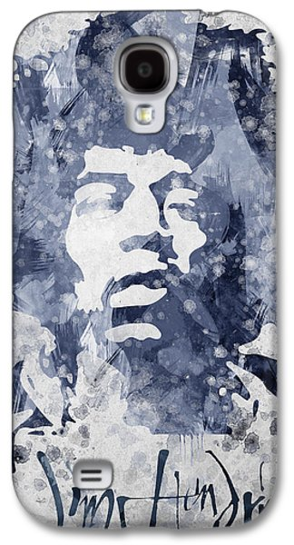 Pop Music Galaxy S4 Cases - Jimi Hendrix Portrait Galaxy S4 Case by Aged Pixel